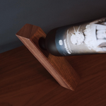 Mahogany Balanced Bottle Holder - Thick