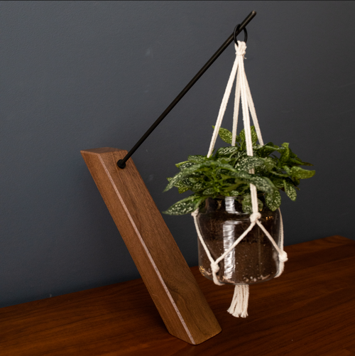Walnut Pendulum Planter