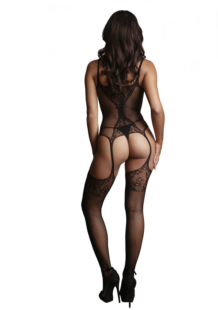 Talitha - Fishnet Bodystocking - Zwart