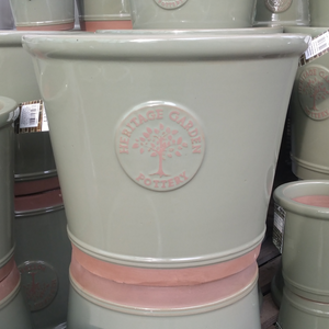 Heritage Terracotta Band Green Pot