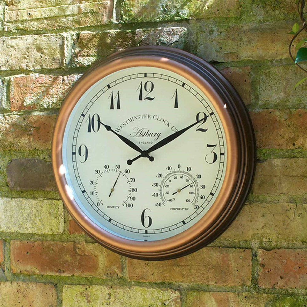 Astbury Wall Clock and Thermometer