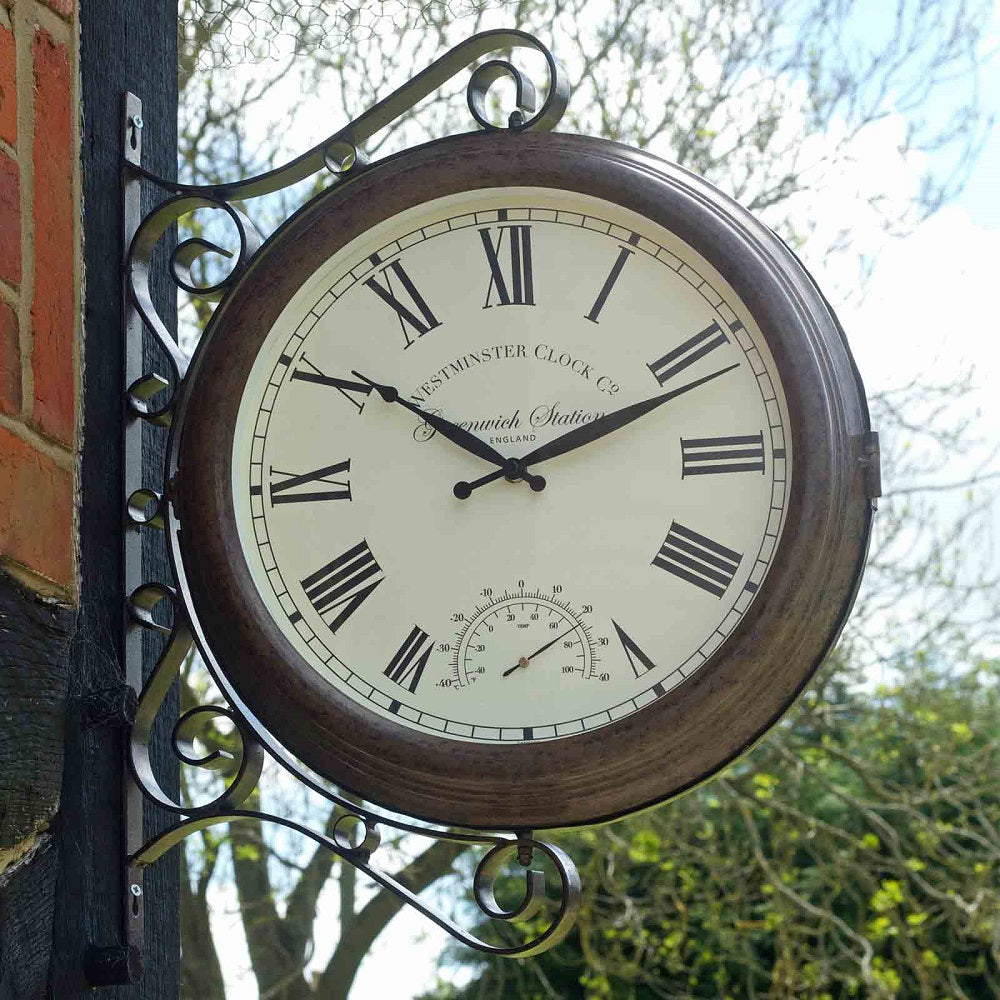 Greenwich Station Clock and Thermometer