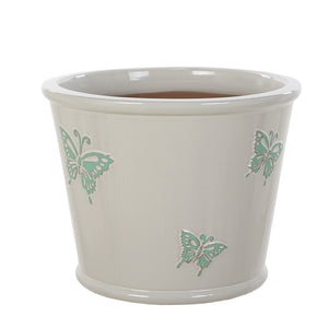 Blue Butterflies Pot