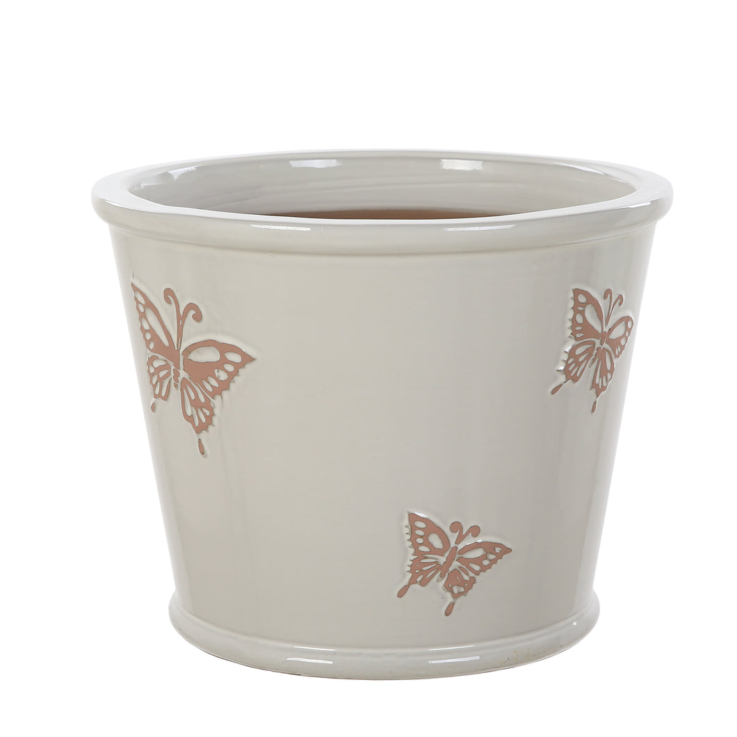 Pink Butterflies Pot