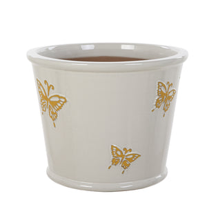 Yellow Butterflies Pot