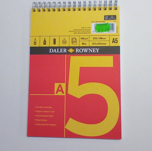 Red & Yellow Smooth Cartridge Paper Spiral Pad