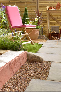 Natural Stone Edging - Sunset Red