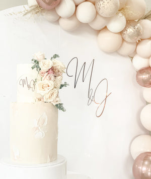 Open image in slideshow, CUSTOM ACRYLIC CAKE TOPPERS - VARIETY