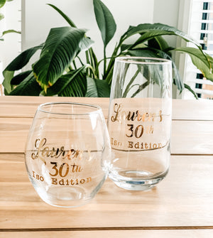 Open image in slideshow, PERSONALISED GLASSES & TUMBLERS