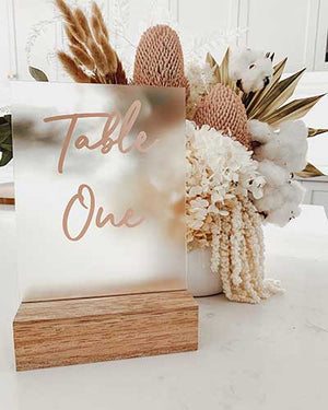Open image in slideshow, WEDDING TABLE NUMBER