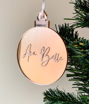 Open image in slideshow, PERSONALISED CHRISTMAS ORNAMENTS