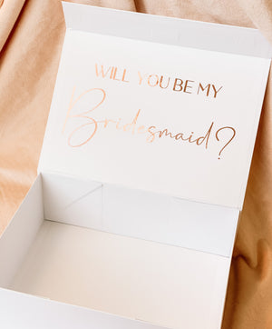 Open image in slideshow, WHITE BRIDAL PARTY PROPOSAL BOXES
