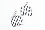 Black & White Squared Earring - Julie Shaw