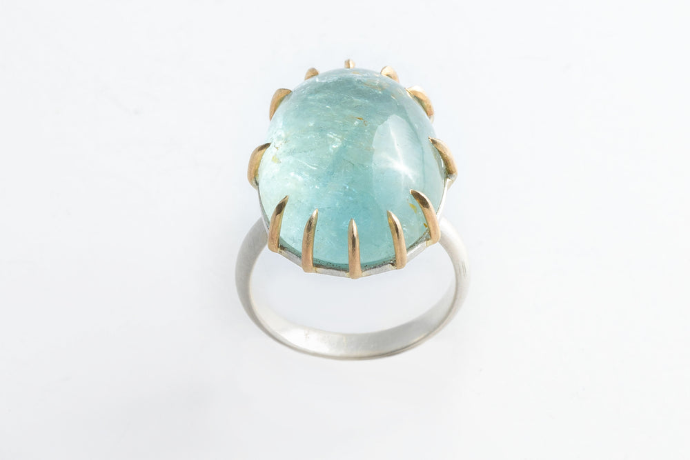 Load image into Gallery viewer, Aquamarine Statement Ring - Hannah Blount