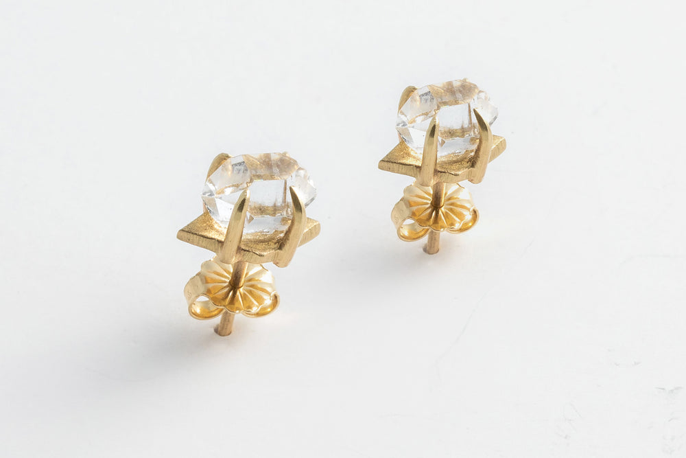 Load image into Gallery viewer, Herkimer Diamond Quartz Earrings - Hannah Blount