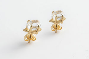 Herkimer Diamond Quartz Earrings - Hannah Blount