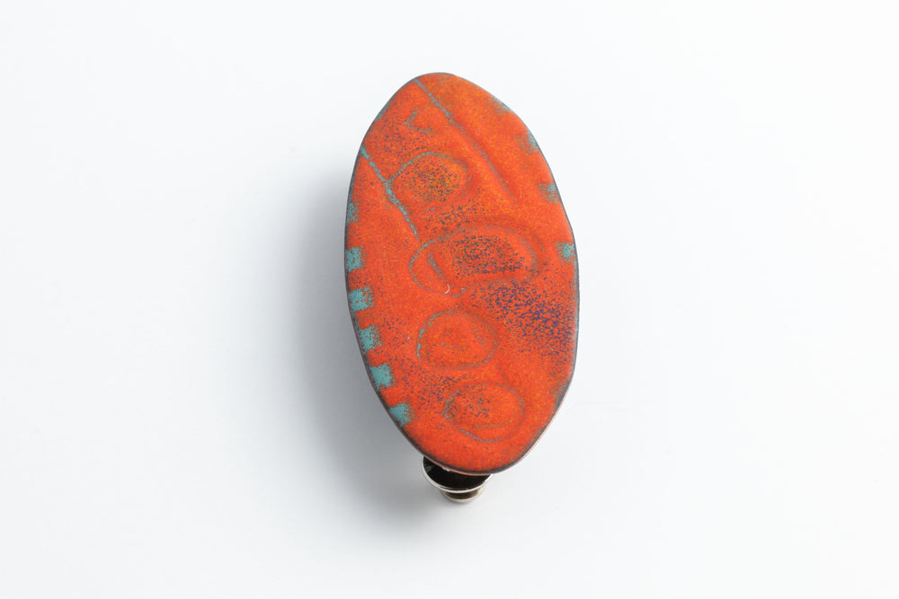 Load image into Gallery viewer, Tomato & Turquoise Brooch - Julie Shaw