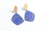 Lime in the Cobalt Earrings - Julie Shaw