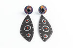 Black, White, & Red All Over Earrings - Julie Shaw