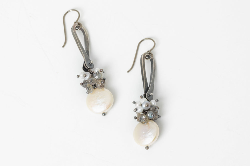 Linea Cluster Drop Earrings - Sarah Chapman
