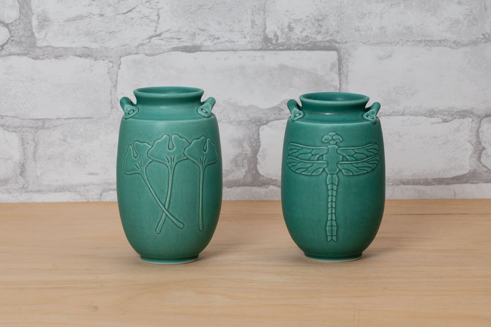 Load image into Gallery viewer, Carved Porcelain Vases - Nichibei Potters