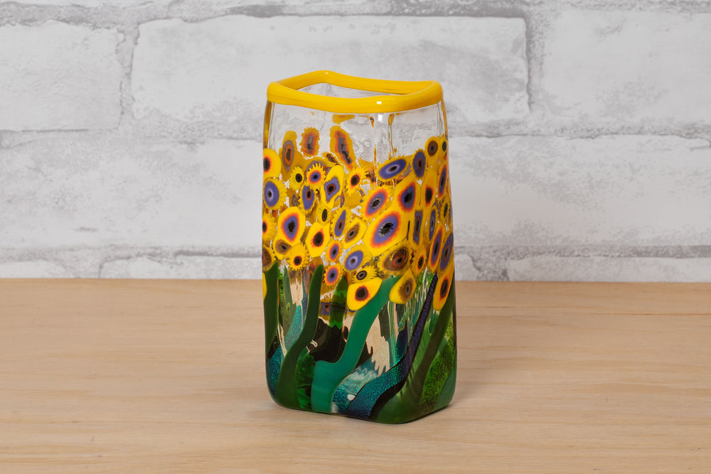 Small Flower Field Vase - Mad Art Glass