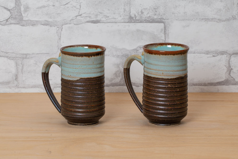 Load image into Gallery viewer, Wheel Thrown Hire Fire Mug - Nichibei Potters