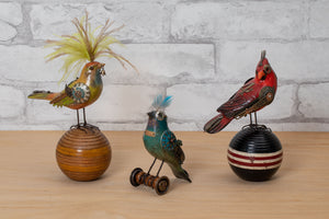 Load image into Gallery viewer, Cardinal on Vintage Croquet Ball- Mullanium