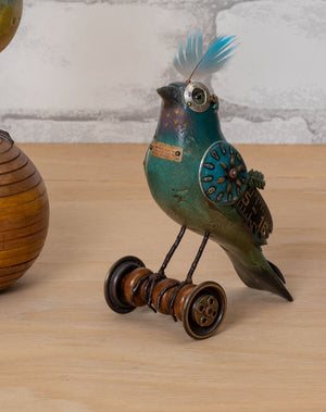 Load image into Gallery viewer, Bluebird on Vintage Spool - Mullanium