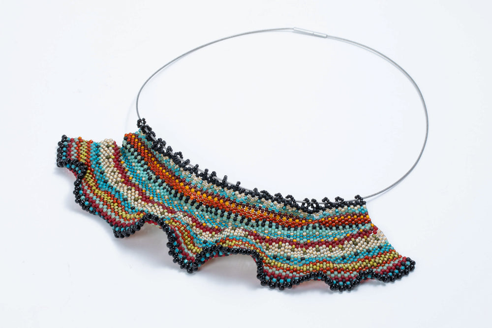 Beaded Ruffle Necklace - Julie Powell