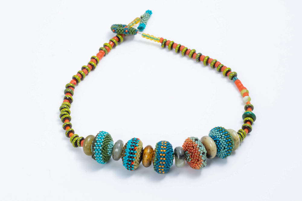 Saucer Bead Necklace - Julie Powell