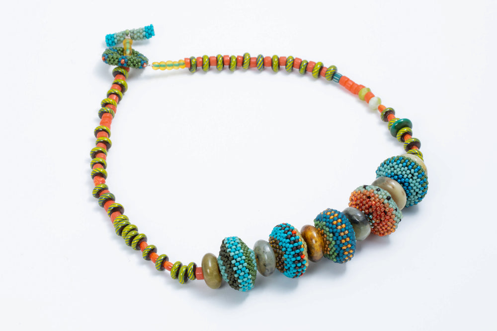 Load image into Gallery viewer, Saucer Bead Necklace - Julie Powell