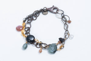 Load image into Gallery viewer, Mixed Metal & Stone Bracelet - Calliope