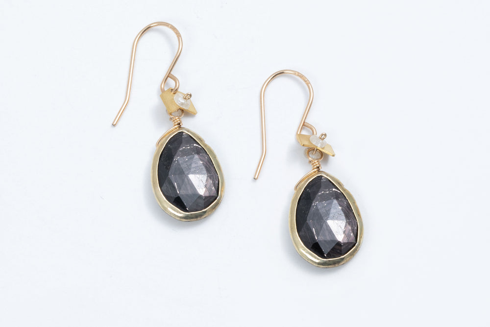 Faceted Gemstone Earrings - Calliope