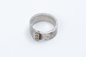 Load image into Gallery viewer, Hammered Sterling Men's Cuff & Ring - J&I Studio