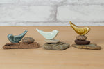 Ceramic Bird Miniature Sculptures - Lisa Rader
