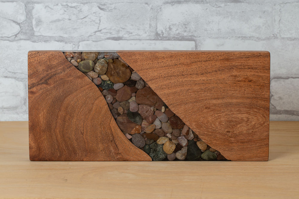 Load image into Gallery viewer, River Stone Sushi Board - Treestump WoodCrafts