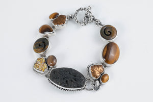 Carved Stone & Glass Bracelet - Amy Kahn Russell