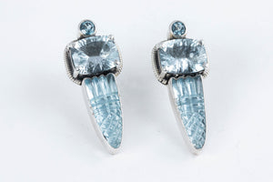 Load image into Gallery viewer, Blue Topaz Post Earrings - Amy Kahn Russell