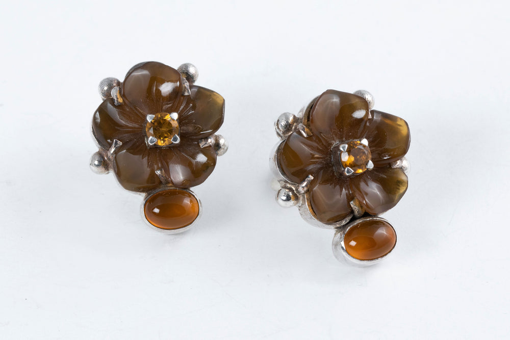 Agate Flower Post Earrings - Amy Kahn Russell