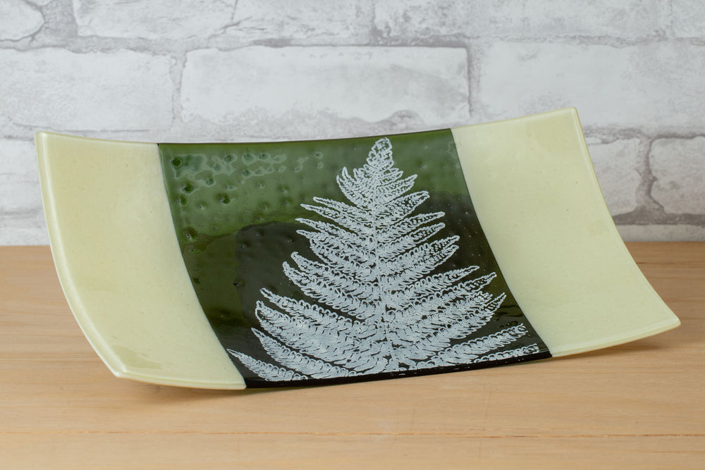 Load image into Gallery viewer, Glass Fern Platter - Laurie Freivogel