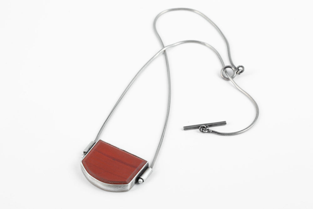 Load image into Gallery viewer, Matte Red Stone Necklace - Terri Logan Studio