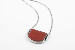 Matte Red Stone Necklace - Terri Logan Studio
