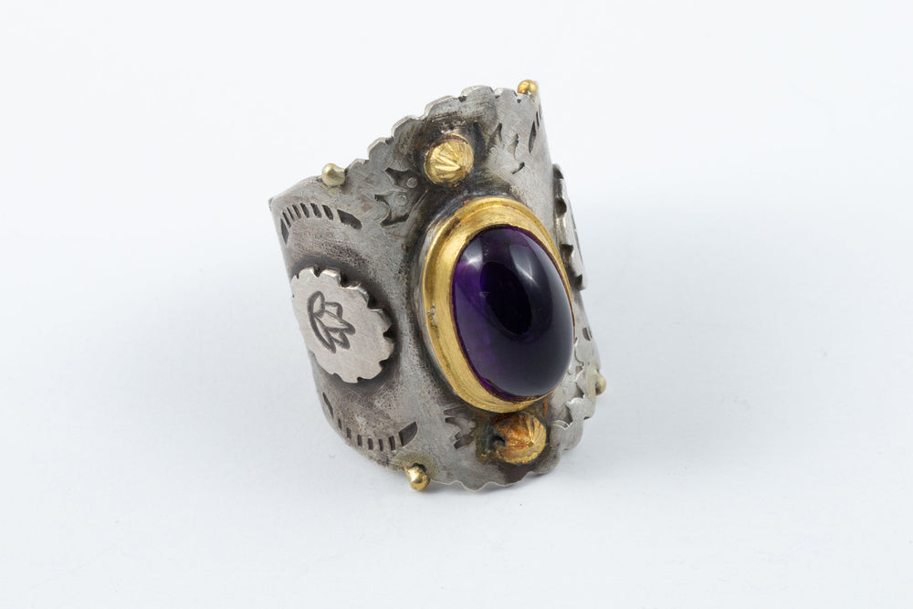 Saddle Amethyst Ring - Melinda Risk