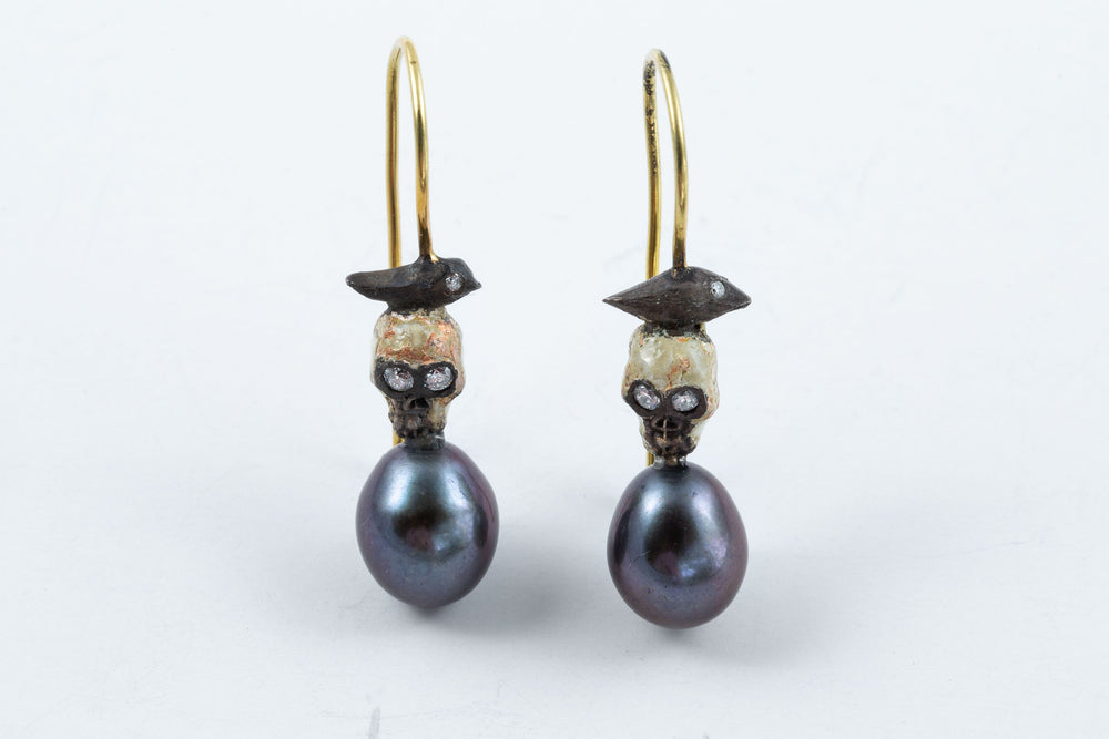 Skull & Bird Earrings - Melinda Risk