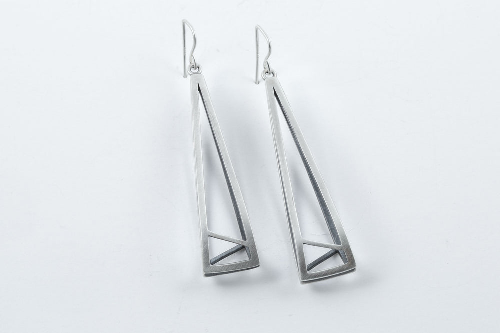 Load image into Gallery viewer, Architectural Shapes Earrings - Emily Shaffer