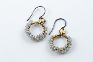 Load image into Gallery viewer, Labradorite Petite Hoops - Calliope