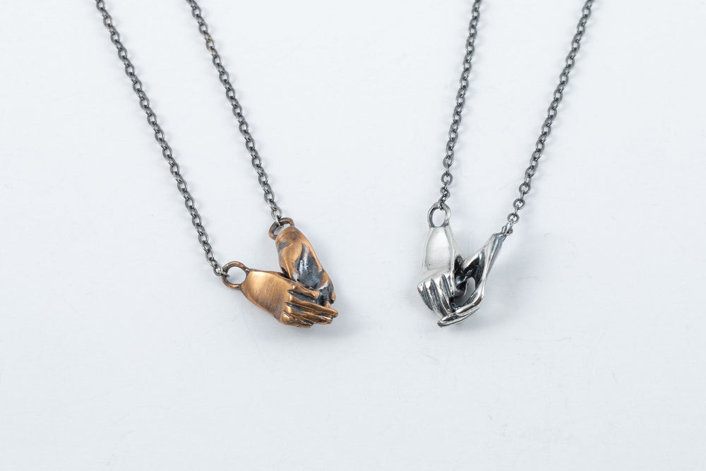 Holding Hands Necklace - Alice Scott