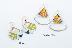 Vintage Tin Earrings - Saffron Creations