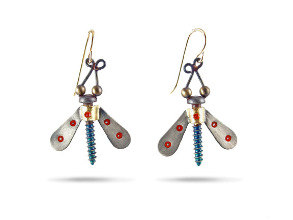 Winged Nut Earrings - Chickenscratch